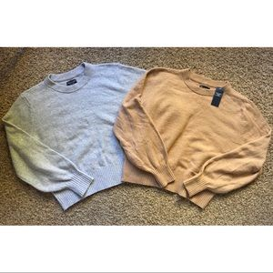 Abercrombie Puff Sleeve Sweaters Size XL 2 for $40